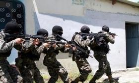 A military patrol in Honduras