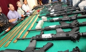 Weapons recovered by Bolivian authorities