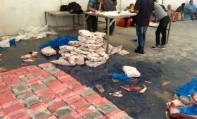 Cocaine seized at the Paita port