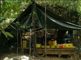 A rural cocaine laboratory