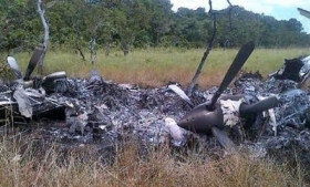 The alleged drug plane shown in Padrino's photo