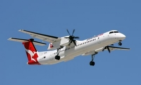 The contractors were flying in a Dash 8 airplane