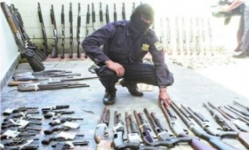 Guns decommissioned by police in Guatemala
