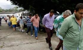 Members of Texis Cartel being led to jail