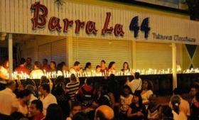 Peace vigil outside site of Cali bar massacre