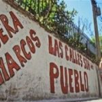 'Narcos Out'. Graffiti in Rosario, Argentina
