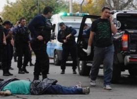 A murder scene in Rosario last June