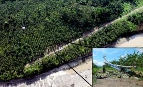A drug plane on a Peru landing strip
