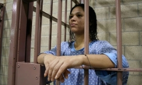A female prisoner in Mexico