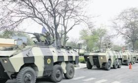 Ecuador military patrol in Manabi