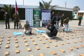 A drug shipment allegedly organized by the officers