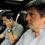 Lionel Messi and his father Jorge