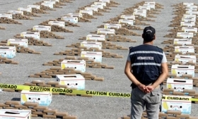 A drug haul recovered in Guayaquil this year