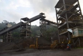 A mining site in Michoacan