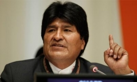 Bolivia President Evo Morales addresses the G77 summit
