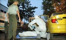 Murder scene in Cali, Colombia