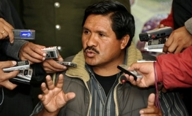 Bolivia's Vice-Minister of Social Defense Felipe Caceres