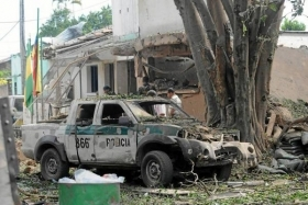 Results of a FARC attack in Cauca, before the ceasefire