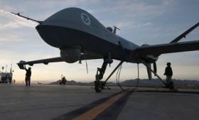 A Predator B drone in Sierra Vista, Arizona