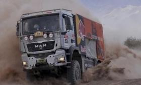 Cocaine was hidden in a Dakar Rally support truck