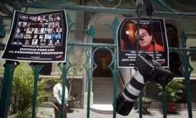 Mexican journalists protest anti-media violence