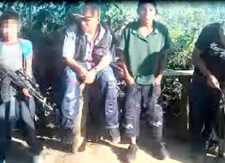 "Children in ""Los Espinoza"" receive weapons training"