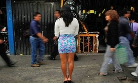 A sex worker in Mexico City