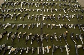 Illegal pistols seized in Brazil