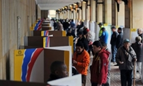 Voters in Colombia