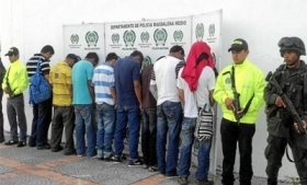 Colombia police arrest alleged BACRIM members
