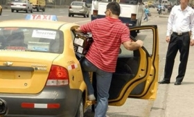 Taxi customers are often targeted for the crime