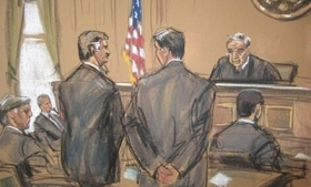 Sketch of Alfonso Portillo in New York court