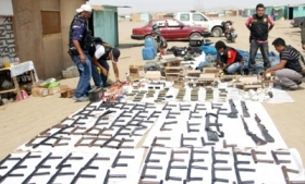Arms recently recovered by Peru authorities