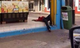 Murder scene in Tamaulipas