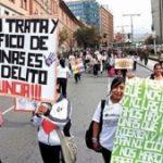 Anti-human trafficking protest in La Paz, Bolivia