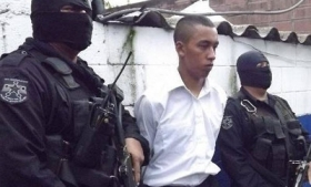 An El Salvador army cadet captured for gang ties