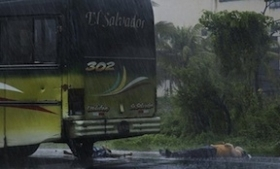 The bus on which 6 people were killed May 23 -