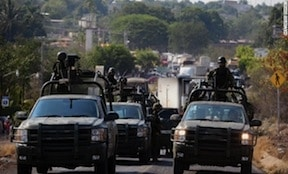 Mexican troops in Michoacan