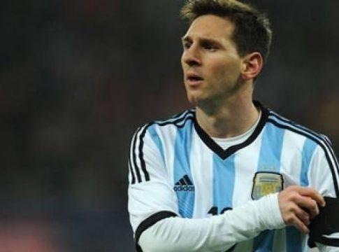 Argentine soccer star Lionel Messi