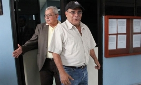Jose Adan Salazar (right) with his lawyer