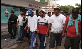 Members of the Rastrojos captured in northern Colombia