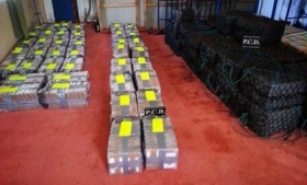 Costa Rican authorities seized over four tons of cocaine
