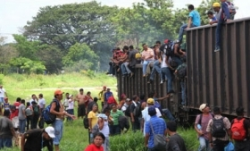 "Migrants on ""The Beast"" in Mexico"