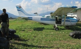 A Bolivian drug plane seized in Peru