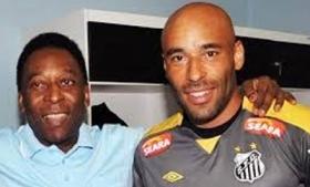 Pele (left) with his son Edinho (right)