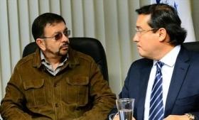 Munguia Payes (left) with Martinez (right)