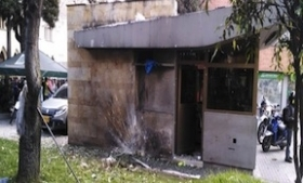 The police station bombed in Bogota