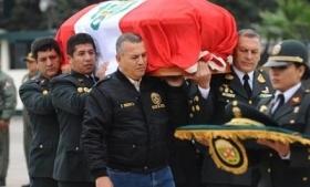 Peru police bury officer killed in Amazon drug patrol