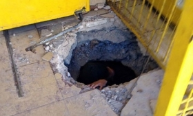 The tunnel discovered by authorities