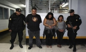 A group arrested for extortion in Guatemala